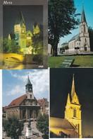 TEMPLES PROTESTANTS . Lot 4 Cpm 10x15 : MONTBELIARD + VALENTIGNEY (25) / METZ+ ST AVOLD  (57) - Churches & Convents