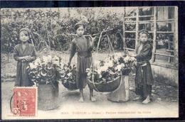 Vietnam - Tonkin - Hanoi - Petites Marchandes De Heurs - 1908 - Vietnam