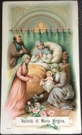 "Antico Santino - Holy Card "" NATIVITÀ Di MARIA VERGINE "" N. 408 , Impr.1898 - Religion & Esotericism"