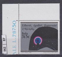 ITALIA REPUBBLICA  1989Rivoluzione Francese  Nuovo - 6. 1946-.. República