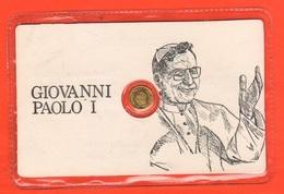 Papa Luciani Pope Giov Paolo I° Gettone Moneta  Token Card Anni '70 - Gettoni E Medaglie