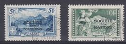 SUISSE SERVICE 1928-30:   Les 2 Hautes Valeurs De  'SOCIETE DES NATIONS', G. Lisse, Oblitérés, Forte Cote  TTB - Service
