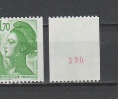 FRANCE / 1984 / Y&T N° 2321a ** :  Liberté 1F70 Vert (roulette Avec N°) - Gomme D'origine Intacte - Ungebraucht