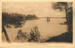 -dpts Div.-ref-AG449- Morbihan - Ile De Conleau - Loin De La Vie Fievreuse Des Villes  ...-  Carte Bon Etat - - France