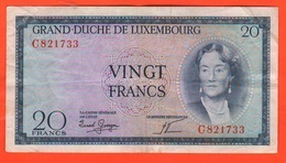 Lussemburgo 20 Franchi 1955 Luxembourg 20 Francs - Lussemburgo