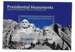 Gambia 2008 United States Landmarks Mount Rushmore S/S MNH - Gambie (1965-...)