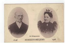 De Echtgenooten MORRENS-MEIJERS  1846 - 1906 : 50-jarig Huwelijk Kempen? Provincie Antwerpen? - Cartes Postales