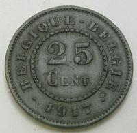 25 Centimes 1917 - Zinc - German Occupation W.W.I. - VF - 05. 25 Centimes