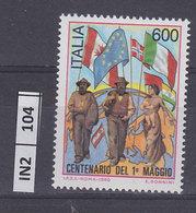 ITALIA REPUBBLICA   1990Centenario Primo Maggio  Nuovo - 6. 1946-.. República