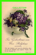 FLOWERS, FLEURS - JE PENSE À TOI - FER GEDACHTENIS AAN UWE BELIJDENIS - - Fleurs