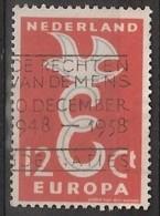 """1958 Europa NVPH 713 Stempel """"de Rechten Van De Mens 1948-1958"""" - Human Rights - Refugees"""