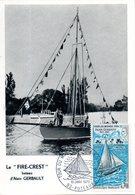 France. Carte Maximum. Tour Du Monde Par Alain Gerbault. Puteaux. 10/01/1970 - Cartes-Maximum