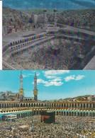 ISLAM Lot 2 Cpm 10x15 Vues De LA MECQUE  Et La Koubaa ( Vues De Pélérinage ) - Islam