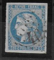 YVERT N° 46B TYPE III REPORT II OBLITERE - COTE = 25 EUROS - SUP - 1870 Emission De Bordeaux