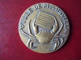 Ancienne Médaille De Table Bronze Ville De MARSEILLAN Signée PICHARD. - Touristiques