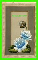 FLOWERS, FLEURS - FLEURS EMBOSSÉES - CIRCULÉE EN 1909 - EMBOSSÉE - - Fleurs