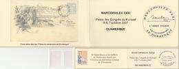 LES 2 CARNETS MARCOPHILEX DUNKERQUE 10/2007 - Booklets