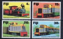 Fiji 1976 Set Of Stamps To Celebrate Sugar Trains. - Fiji (1970-...)