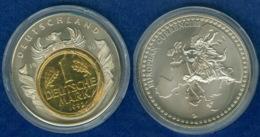 Medaille Das Geld Europas 40mm Teilvergoldet - Deutschland