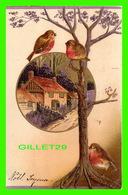 OISEAUX - OISEAUX DANS UN ARBRE EN PARSAGE - CIRCULÉE EN 1908 - - Oiseaux
