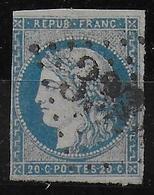 YVERT N° 44A RARE TYPE I REPORT I OBLITERE - COTE = 725 EUROS - UNE MARGE COURTE - 1870 Emission De Bordeaux