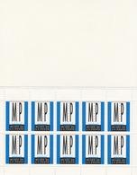 CARNET De 10 VIGNETTES MUSÉE De La POSTE 1990 - Erinnophilie