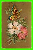 FLOWERS, FLEURS - PAPILLON SUR UNE FLEUR - - Fleurs