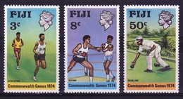 Fiji 1974 Set Of Stamps To Celebrate The Commonwealth Games New Zealand. - Fiji (1970-...)