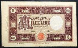 1000 Lire Grande M Testina B.I. 08 01 1946 MB Naturale Piccola Mancanza LOTTO 2345 - [ 1] …-1946 : Regno