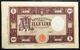 1000 Lire Grande M Testina B.I. 08 01 1946 MB Naturale Piccola Mancanza LOTTO 2345 - [ 1] …-1946: Königreich