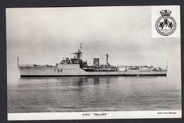 RPPC Modern Real Photo Postcard HMS Palliser Royal Navy Ship Boat RP PC - Warships