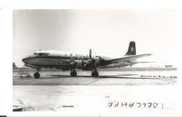 PHOTO AVION DOUGLAS DC 6 CC-CDH  SOLASTRAL    13X9CM - 1946-....: Era Moderna