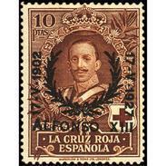 ES361STV-LFT*361TCR.España. Spain.Espagne.JUBILEO DEL REY  ALFONSO Xlll.1927 (Ed 361*) MAGNIFICO - Cruz Roja