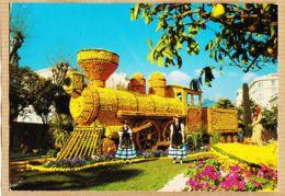 X06360 MENTON (06) Locomotive La Perle De FRANCE Fêtes Du Citron Dans Jardins BIOVES 1983 à MUENIER Quingey - Menton