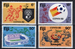 Fiji 1982 Set Of Stamps To Celebrate The World Cup Football Championship. - Fiji (1970-...)
