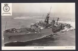 RPPC Modern Real Photo Postcard HMS Grafton Royal Navy Ship Boat RP PC - Warships