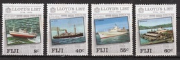 Fiji 1984 Set Of Stamps To Celebrate The 250th Anniversary Of Lloyds List. - Fiji (1970-...)