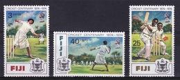 Fiji 1974 Set Of Stamps To Celebrate Centenary Of Cricket. - Fiji (1970-...)