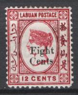 Labuan 1880 Y.T. 13 */MH  VF/F - Grande-Bretagne (ex-colonies & Protectorats)