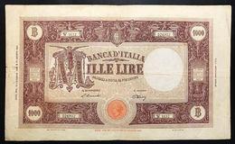 1000 LIRE BARBETTI REPUBBLICA 19 12 1946 BIGLIETTO NATURALE MB/BB LOTTO 2289 - [ 2] 1946-… : Repubblica