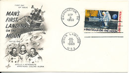USA FDC Man's First Landing On The Moon 20-7-1969 With Art Craft Cachet - FDC & Commémoratifs