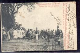 Congo Belgie - Enterrement Chez Les Bacotje Groupe Du Convoi Funebre - 1905 - Kongo - Kinshasa (ex Zaire)
