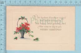 Carte Postale CPA - Fleurs - Used Voyagé En 1925  + CND Timbre, Send To Brookbury Quebec - Cartes Postales