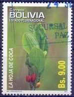 Used Bolivia 2011, Medicinal Plants - Coca Leaf 1V. - Bolivia