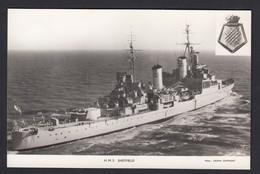 RPPC Modern Real Photo Postcard HMS Sheffield Royal Navy Ship Boat RP PC - Warships