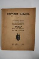 """Togo, 1956, """"Rapport Annuel Du Gouvernement Français Sur L'administration Du Togo"""" - Histoire"""