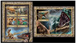 Guinea 2016 Fauna Dinosaurs  Klb + S/s MNH - Postzegels