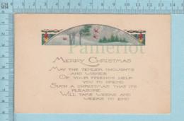 Carte Postale CPA - Christmas- Used Voyagé En 1924 + CND Stamp, Cover Stanstead Quebec - Cartes Postales