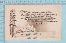 Carte Postale CPA - Christmas- Used Voyagé En 1924 + 2 X CND Stamp, Cover Kingston Ont. - Cartes Postales