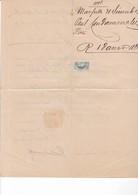 JOLIE LETTRE MARSEILLE 1875 / AVEC MORCEAUX .....CERES REPUBLIQUE 50 ET 51 - Marcophilie (Lettres)